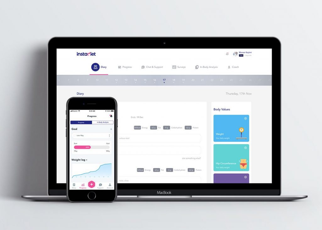 Pencil Solutions helped Instadiet design platform that connects patients to top-notch dietitians