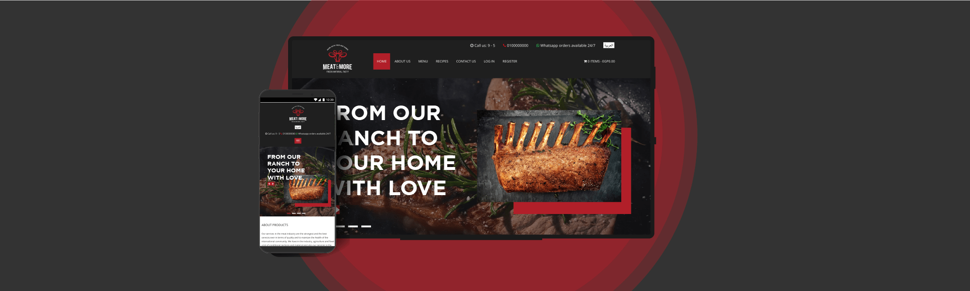 A Customized Online Store for Meat & More by pencil solutions experts